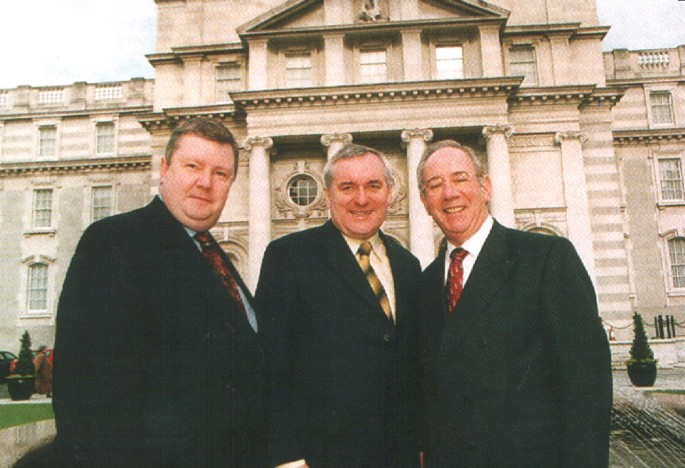 Derek Mooney with Former Taoiseach Bertie Ahern & Former Lord Mayor Ben Briscoe