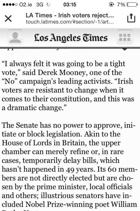Quoted in the Los Angeles Times