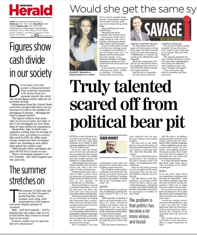Evening Herald Aug 24, 2013